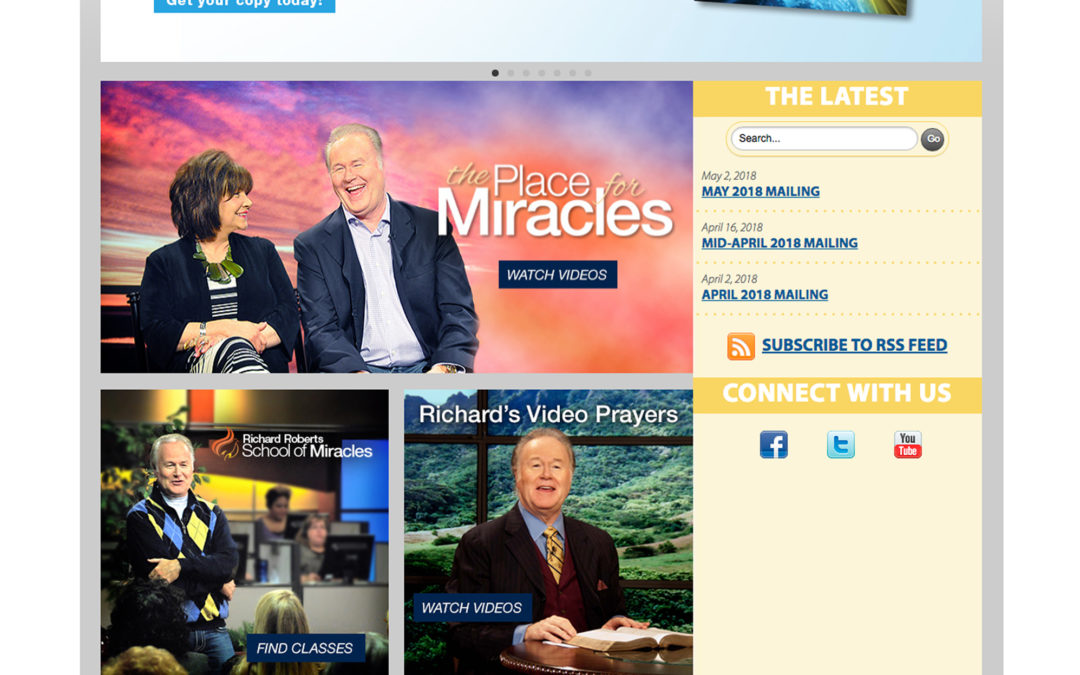 Oral Roberts Ministries Website Redesign