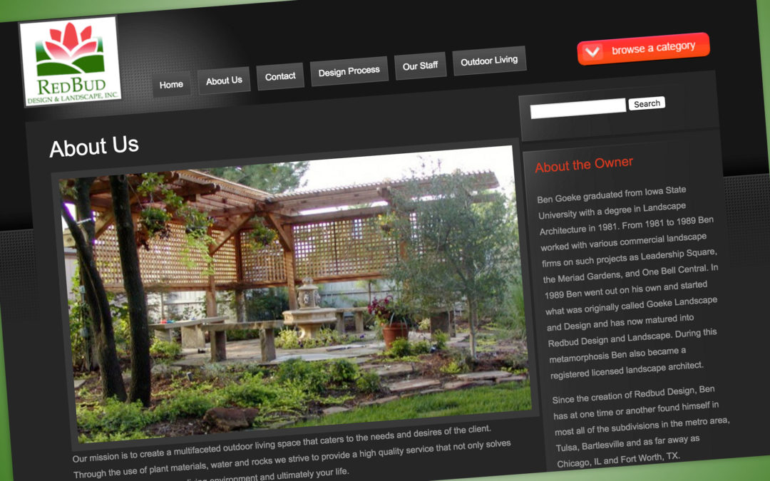 Redbud Design Website