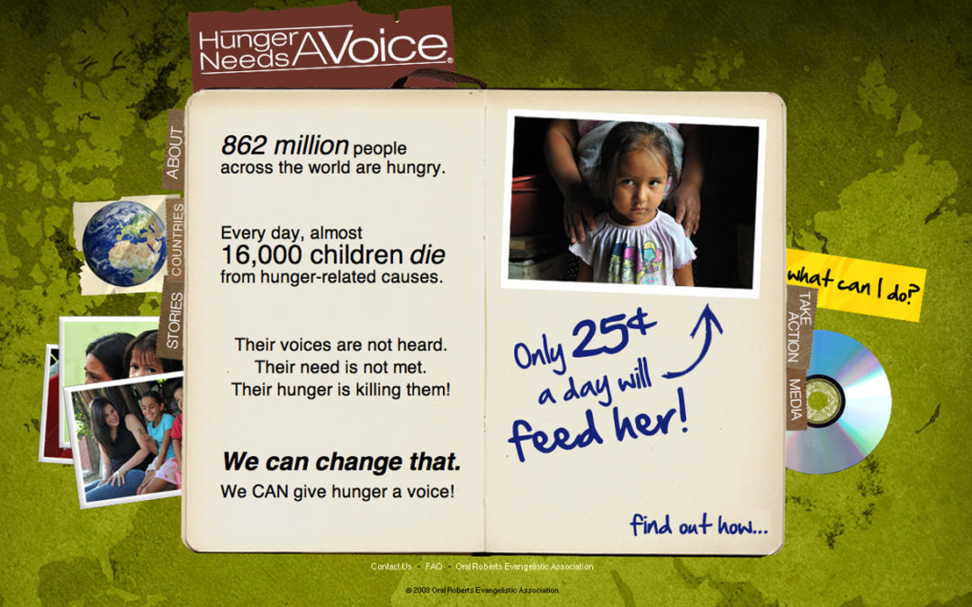 Hunger Needs a Voice Website